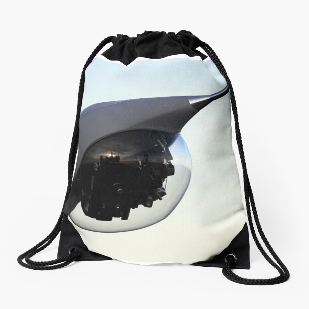A Scan Eagle unmanned aerial vehicle is positioned for launch. Drawstring Bag