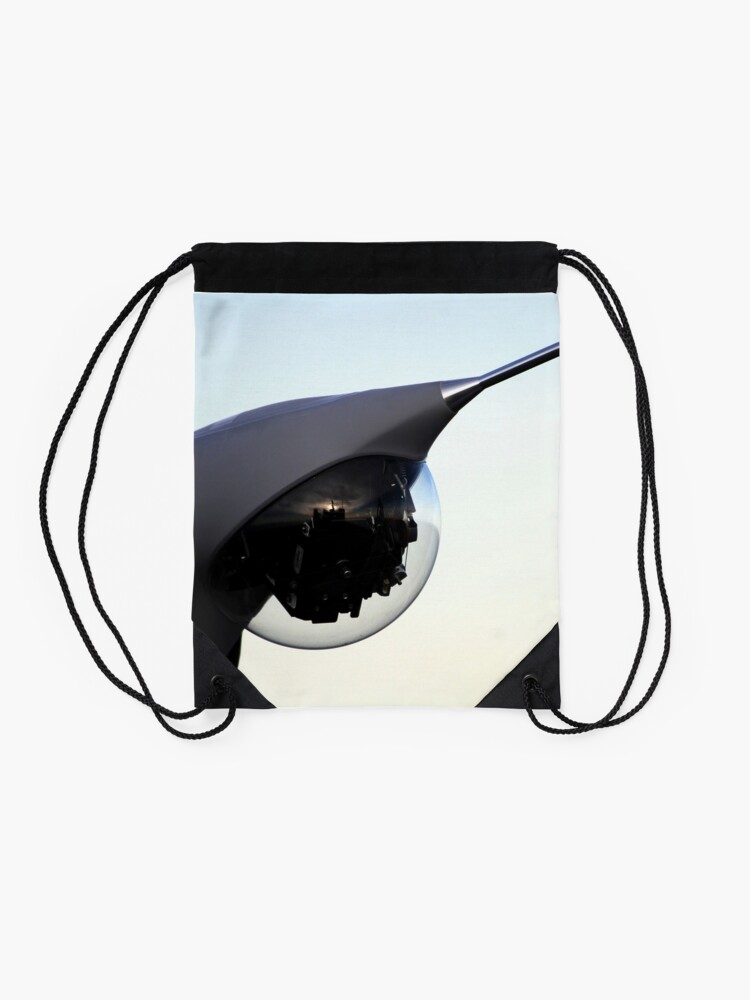 Alternate view of A Scan Eagle unmanned aerial vehicle is positioned for launch. Drawstring Bag