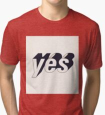 Yes typography Tri-blend T-Shirt