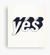 Yes typography Canvas Print