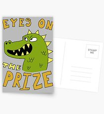 Eyes on the prize dinosaur Postcards