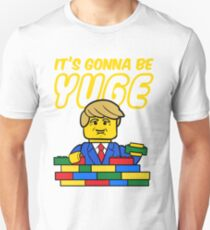 trump yellow bricks yuge wall funny parody hairstyle T-Shirt