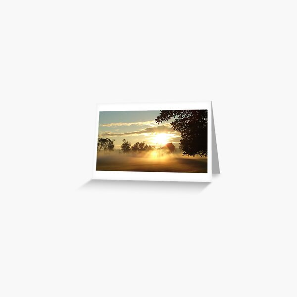 Best misty sunrise Greeting Card