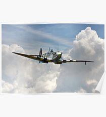 Spitfire Portrait d'un héros Poster