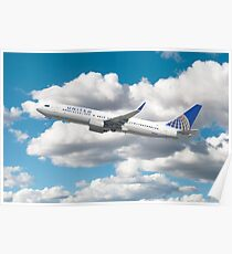 United Airlines Boeing 737 Poster