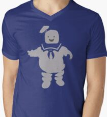 Mr. Stay Puft Marshmallow Man Men's V-Neck T-Shirt