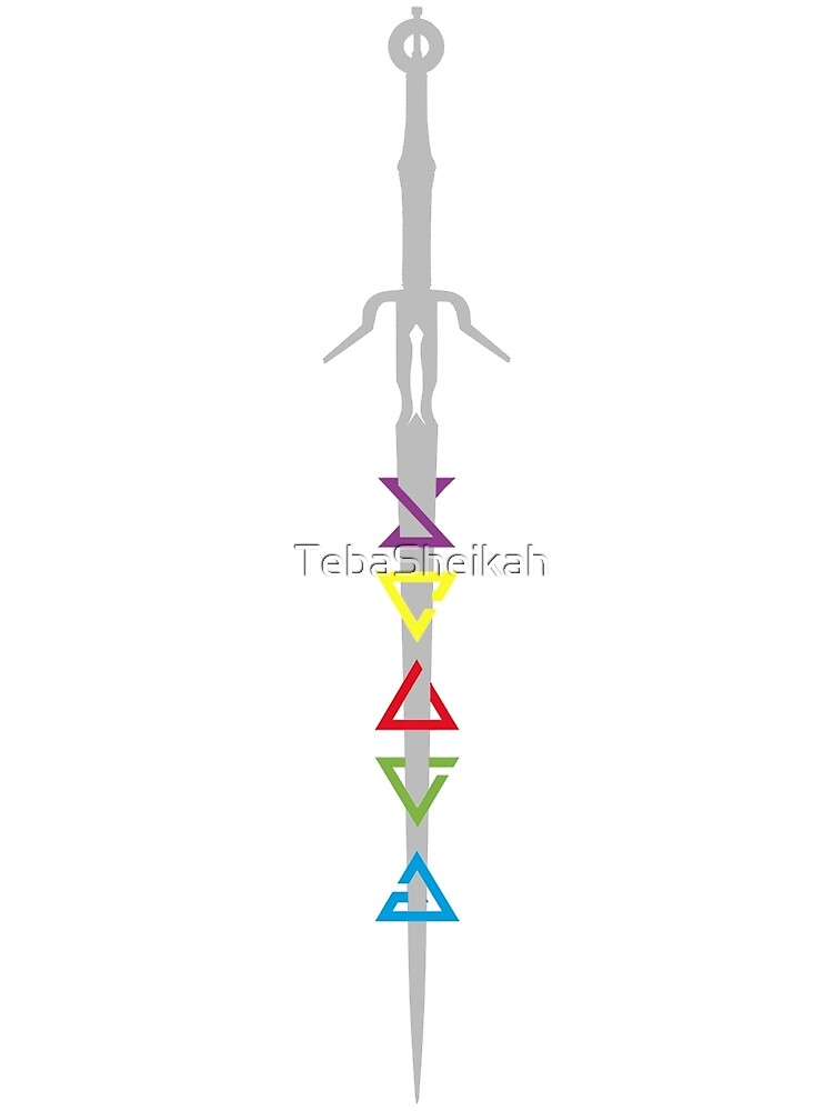 Minimalist Zireael Sword with Signs  by TebaSheikah