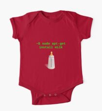 Linux Baby sudo apt-get install milk Kids Clothes