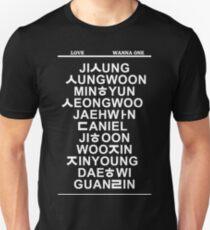 love wanna one black T-Shirt