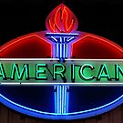 American Oil Sign by Sandy Keeton