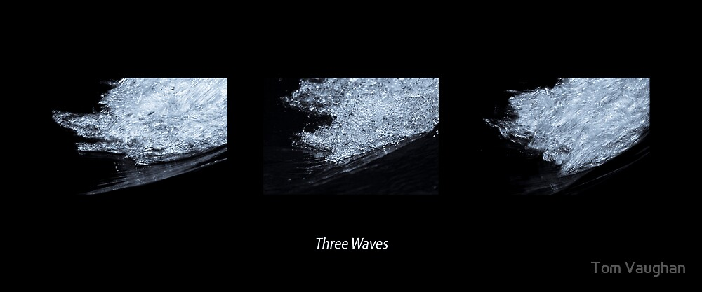 Three Waves (Black) by Tom Vaughan