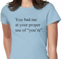 Your vs. You're Womens Fitted T-Shirt