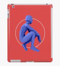 Blue Pondering - Lowpoly iPad Case/Skin