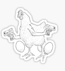 Momma Hen Sticker