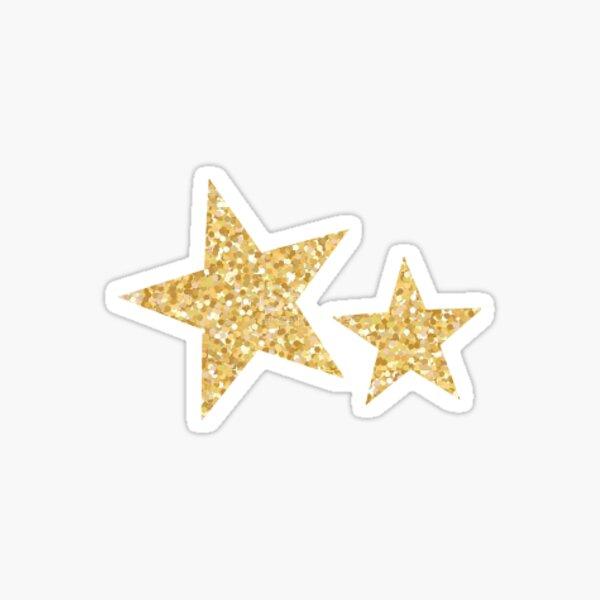 Gold Glitter Twin Stars Sticker