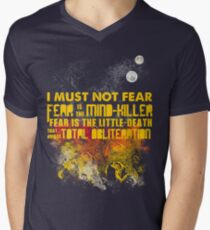Litany Against Fear Men's V-Neck T-Shirt