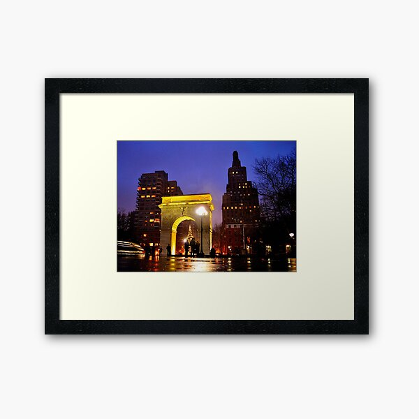 Washington Park at Christmas Framed Art Print