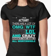 ACTUARY BEST DESIGN 2017 Women's Fitted T-Shirt