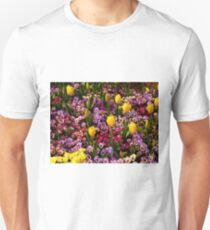Tulips Among Pansies Slim Fit T-Shirt