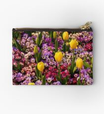 Tulips Among Pansies Zipper Pouch