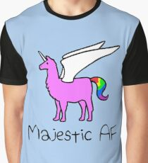 Majestic AF Pink Llamacorn Graphic T-Shirt