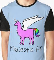 Majestätisches AF-Rosa Llamacorn Grafik T-Shirt