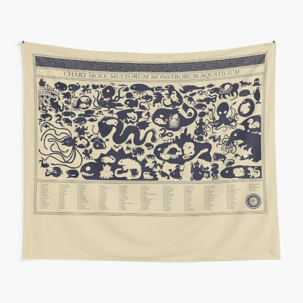 Size Chart of Sea Monsters Tapestry