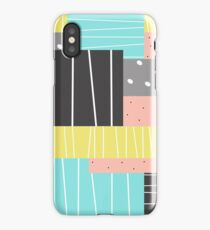 Dots And Stripes Abstract Art iPhone Case/Skin