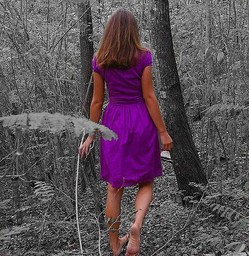 A walk in a purple dress by californiagirl