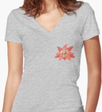 Pokemon Staryu - Patrick Star Crossover Women's Fitted V-Neck T-Shirt