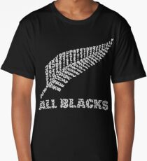 "The Rugby Team ""All Blacks"" of New Zealand  Long T-Shirt"