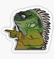 Cool Iguana Sticker