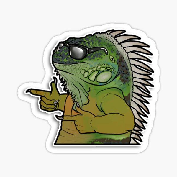 Cool Iguana Sticker