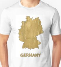 Germany map outline Aztec Gold watercolor T-Shirt