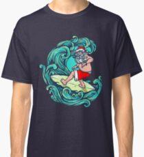 Christmas Surfers Shirt Santa Surfing T-Shirt Classic T-Shirt