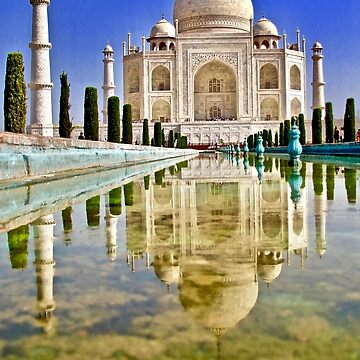 Taj Reflection by lenzart