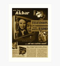 Akbar TV Company [pvt]- Pakistan's best HDTV of 1952 Art Print