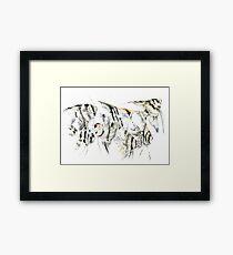 Scalar fish aquarium design, angelfish Framed Print