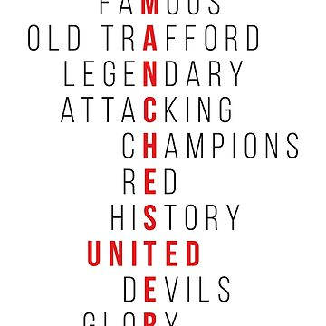Famous Manchester Word Play Design by theunitedpage