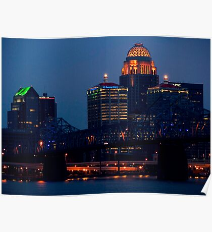 Derby City Skyline Poster