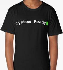 System Ready Retro Computer Graphic Long T-Shirt