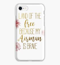 My Airman is Brave iPhone Case/Skin