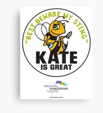The Arkshakes Collection: Kate Button Canvas Print