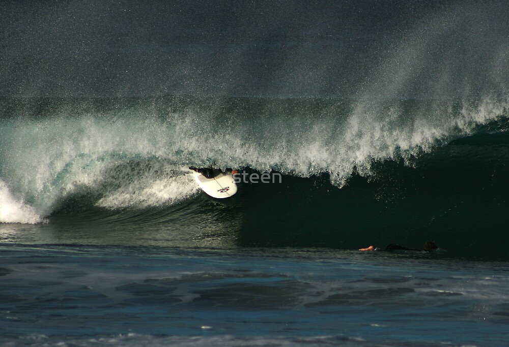 kneeboard surfing by steen