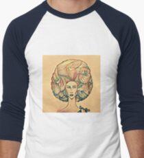 Afro high light Men's Baseball ¾ T-Shirt