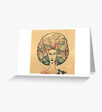 Afro high light Greeting Card
