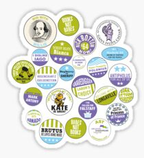 The Arkshakes Collection: Bard Buttons! Sticker