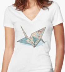 Roadmap for Peace Women's Fitted V-Neck T-Shirt