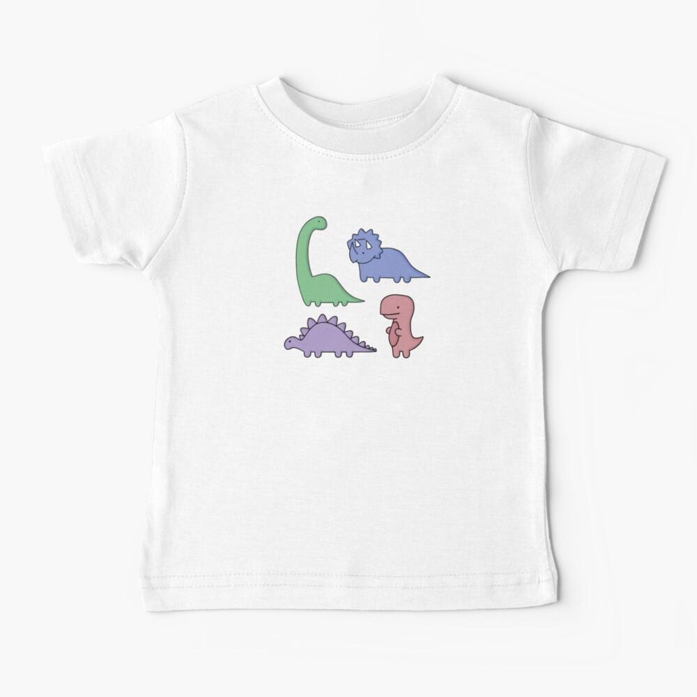 Dinosaur Illustrations Baby T-Shirt