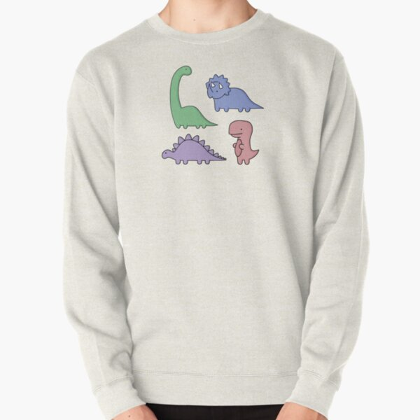 Dinosaur Illustrations Pullover Sweatshirt